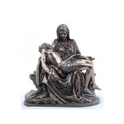 La Pieta Bronze Effect Museum Reproduction Statue Of The Virgin Mary Holding Jesus Religious Ornamen